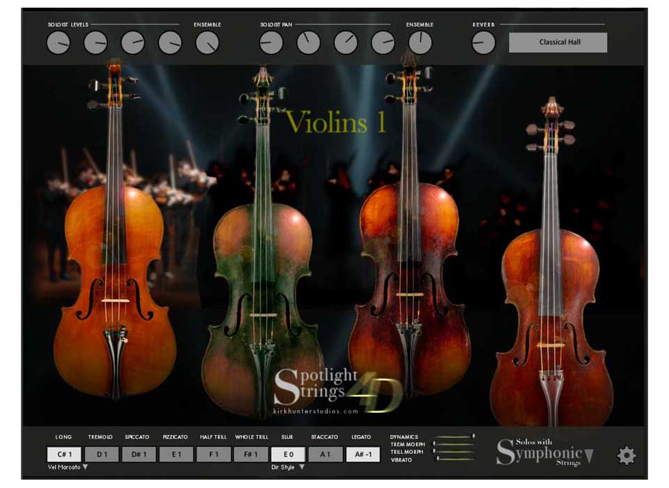 Kirk Hunter Studios Spotlight Strings 4D virtual instrument sample library kontakt orchestra score producer audiofader
