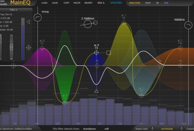 Sknote MainEQ software plug-in audio daw processing eq audiofader