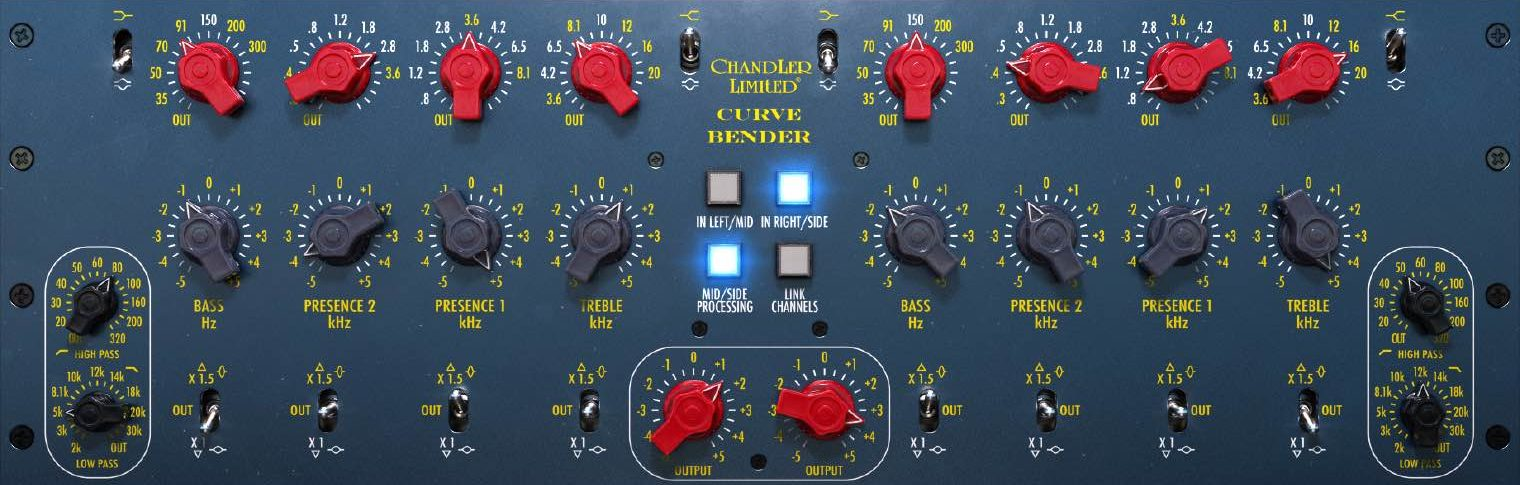 Softube Chandler Limited Curve Bender Mastering EQ virtual audiofader