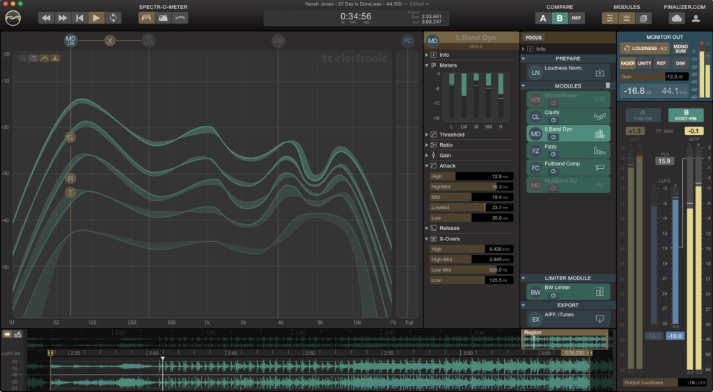 Tc Electronic Finalizer app software mastering itb daw audiofader