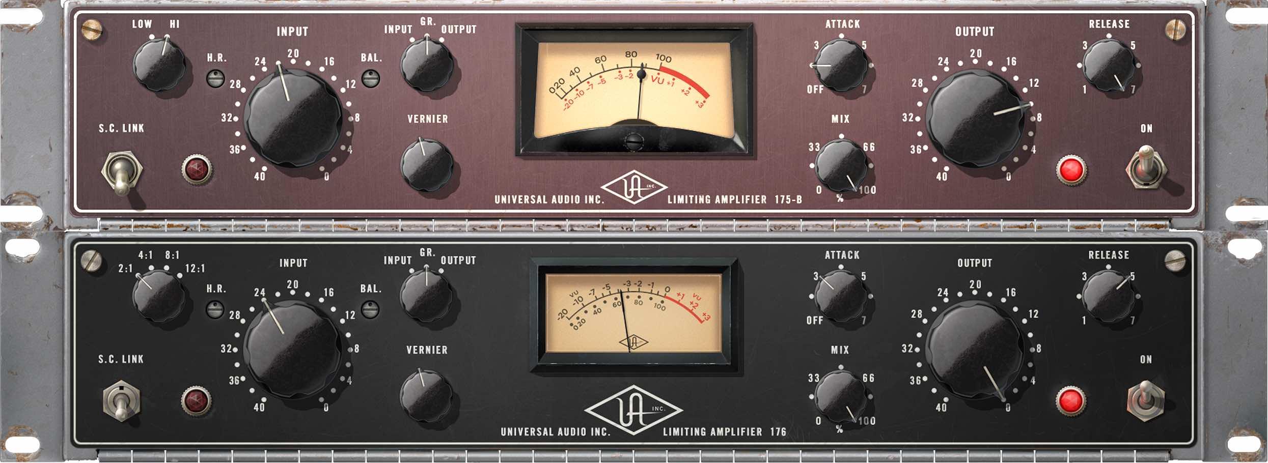 Universal Audio uad 910 software 175B 176 comp mix audiofader