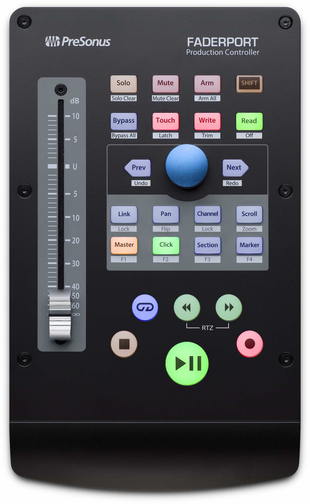 PreSonus Faderport studio hardware controller pro home project midi music test audiofader