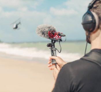 Røde NTG5 mic broadcast shotgun midi music audiofader
