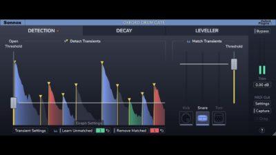 Sonnox Oxford Drum Gate plug-in audio virtual processing mix daw audiofader