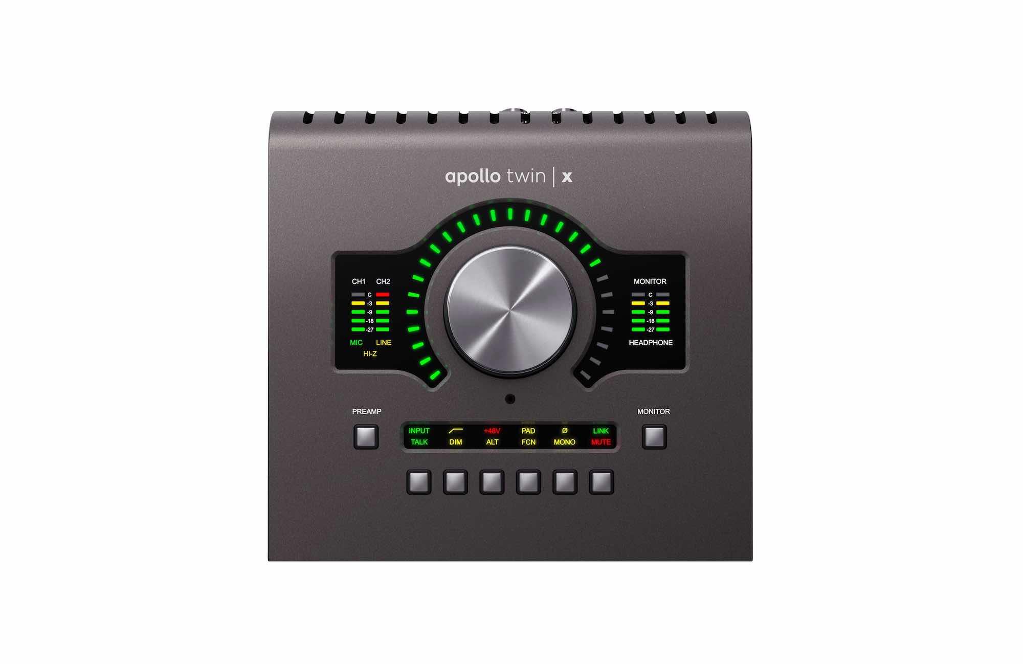 Universal Audio Apollo twin x interfaccia hardware studio pro home project audiofader
