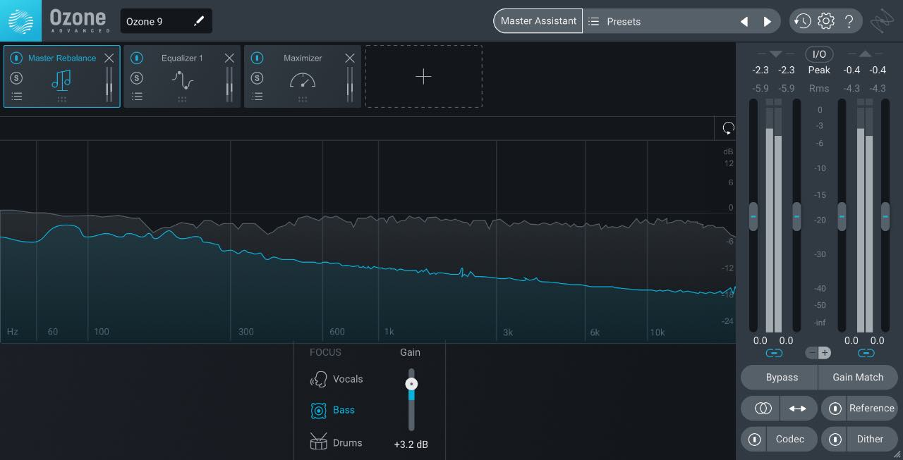 iZotope Ozone 9 mastering software virtual processing itb audiofader