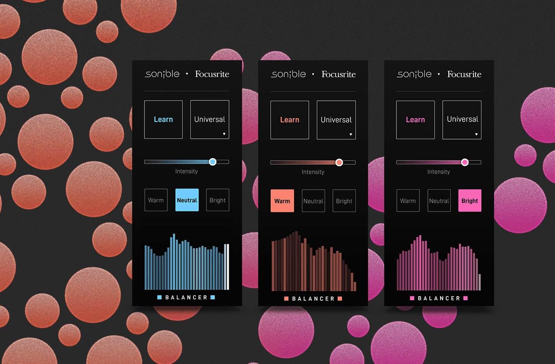 Focusrite Sonible Balancer plug-in software daw virtual audiofader
