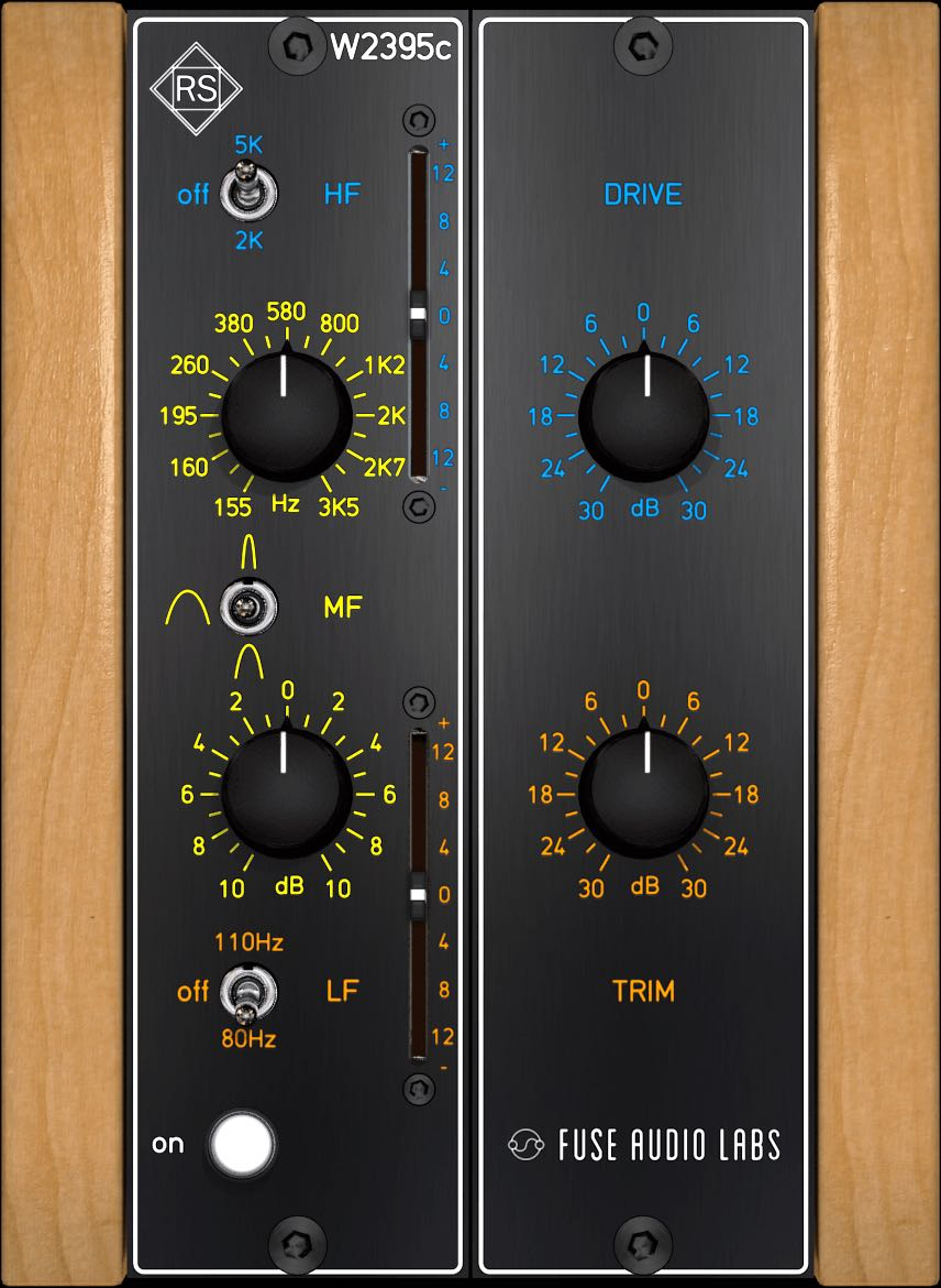 Fuse Audio Labs W2395c plug-in audio software daw mix mastering audiofader