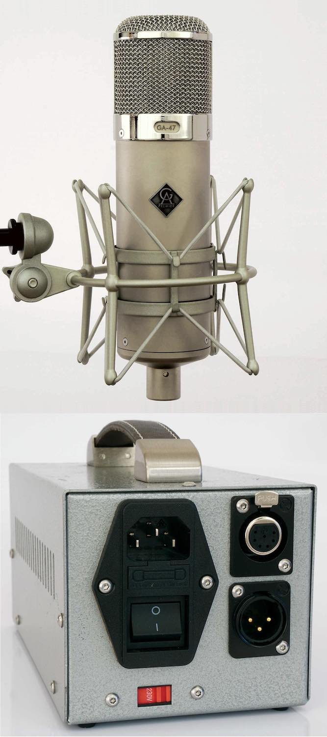 Golden Age Premier GA-47 mic studio pro rec hardware tube valvola soundwave test audiofader