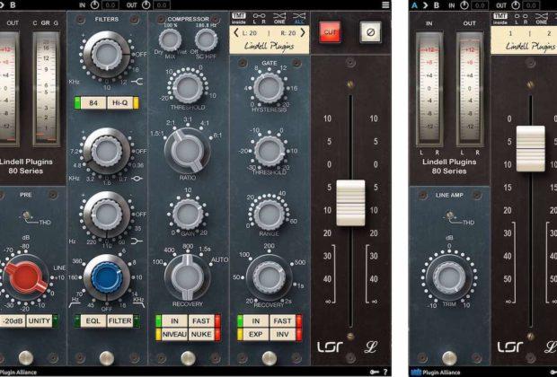 Plugin Alliance Lindell Audio 80series mix virtual analog neve software daw audiofader