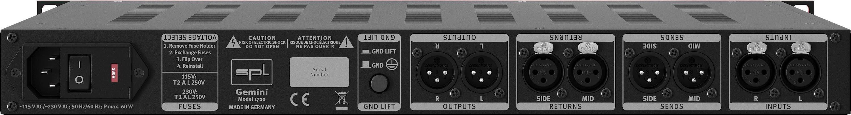 SPL Gemini hardware outboard digital mastering M/S mid/side midi music audiofader