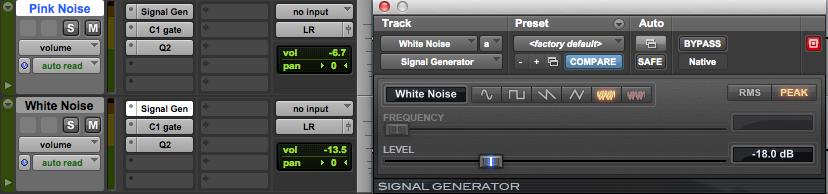 Tutorial mix pink white noise audiofader magazine