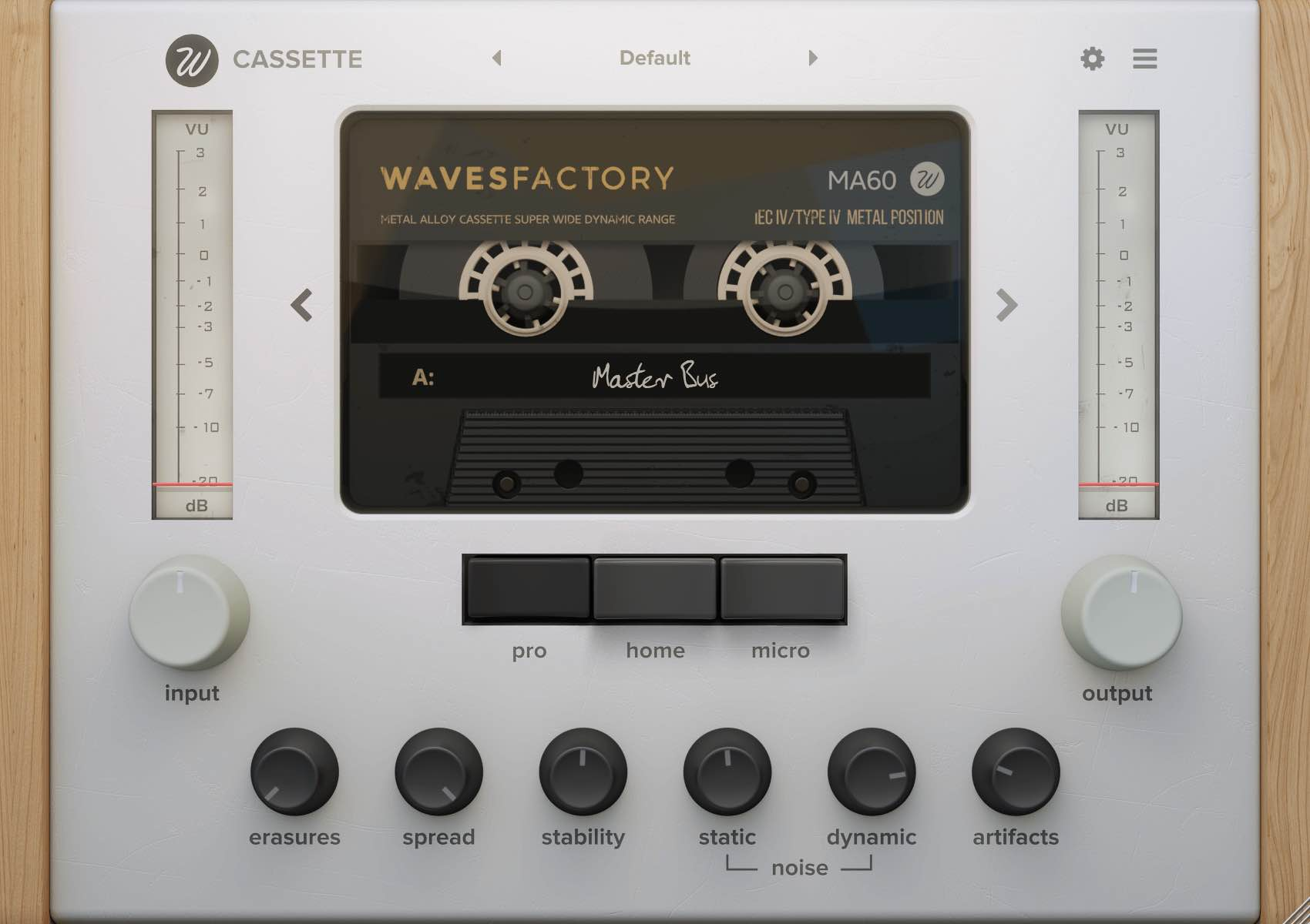 Wavesfactory Cassette TypeIV plug-in audio lofi audio pro mix audiofader virtual