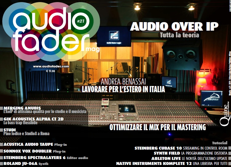 audio over ip andrea benassai audiofader