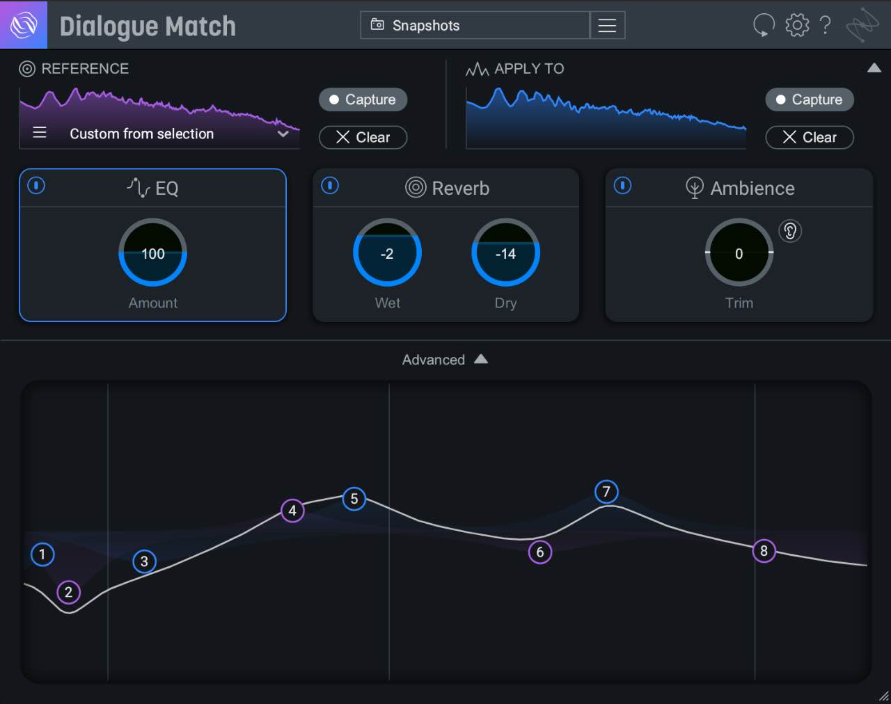 iZotope Dialogue Match software post produzione midiware audiofader virtual