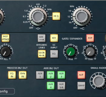 AMS Neve Genesys Control plug-in software daw virtual audiofader