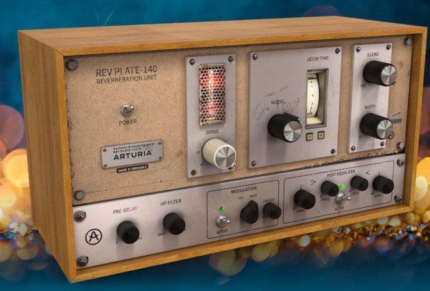 Arturia Rev Plate-140 plug-in audio daw software riverbero audiofader