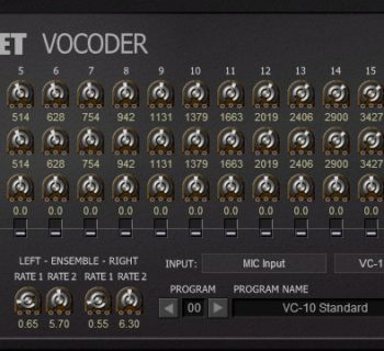Full Bucket Vocoder plug-in audio virtual instrument audiofader