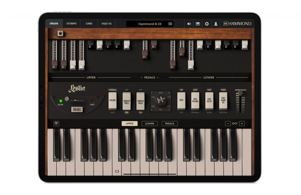 Ik Multimedia Hammond B-3X virtual instrument audiofader organ