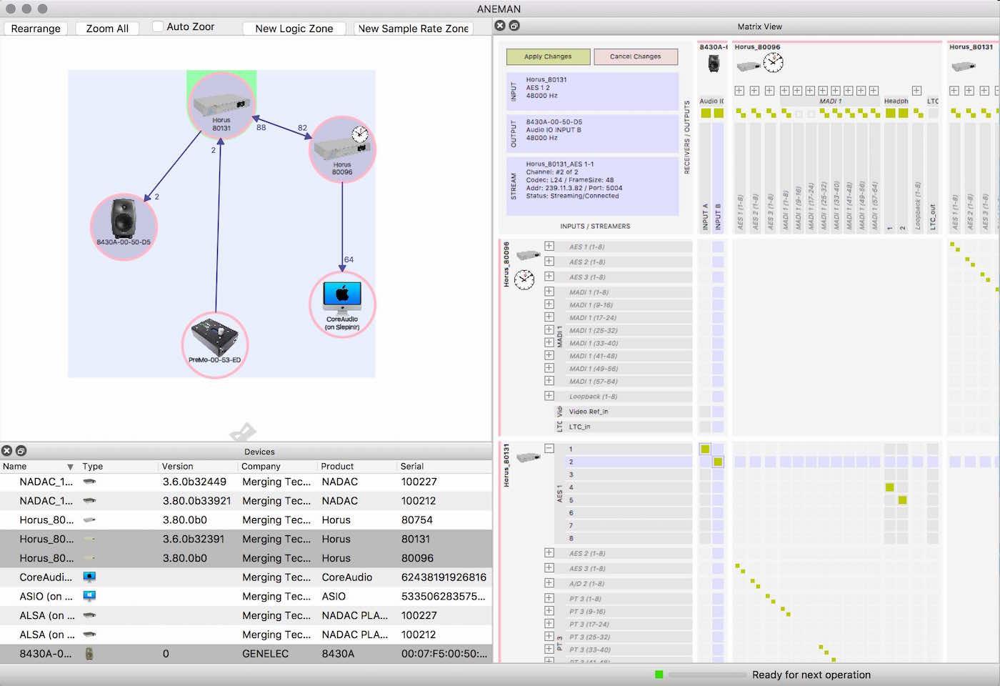 Merging Anubis interfaccia audio pro studio hardware digital daw vdm group audiofader test