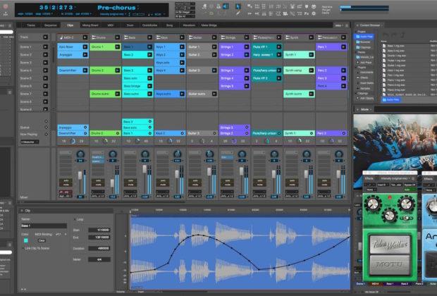 Motu digital performer 10 update aggiornamento software daw pro studio audio rec mix edit mastering backline audiofader