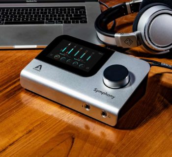 Apogee Symphony Desktop hardware interfaccia audio pro studio home project soundwave audiofader