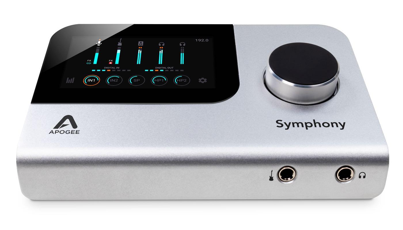 Apogee Symphony Desktop hardware interfaccia audio pro studio home project soundwave audiofader