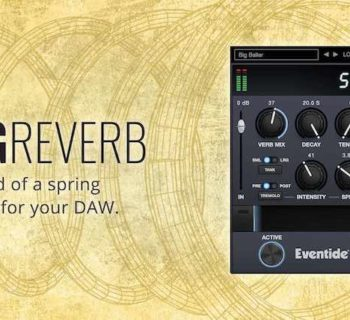 Eventide Spring Reverb plug-in audio fx iOS rec mix daw virtual software funky junk audiofader