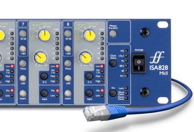 Focusrite ISA 828 mkII interfaccia audio pro eko music group dante audiofader