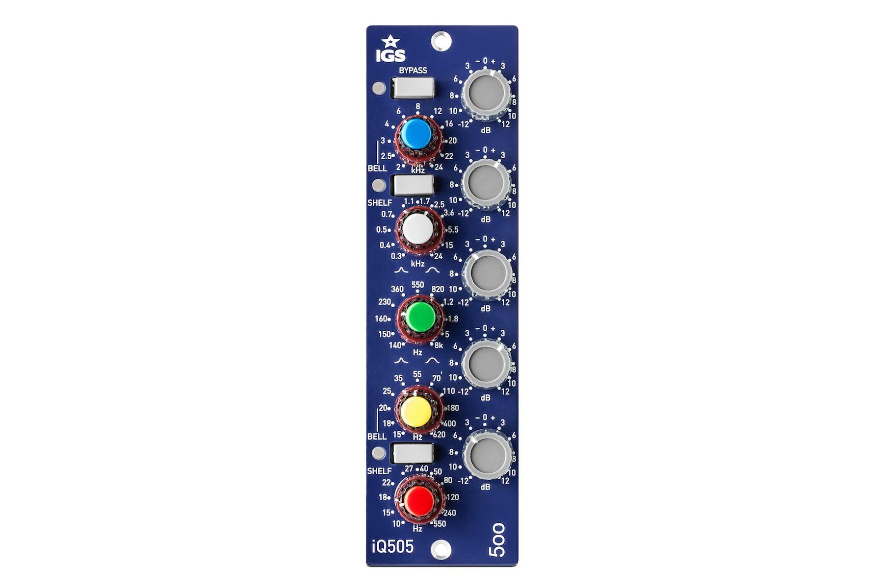 IGS iQ505 eq outboard hardware analog processing studio pro rec mix api 500 rack audiofader