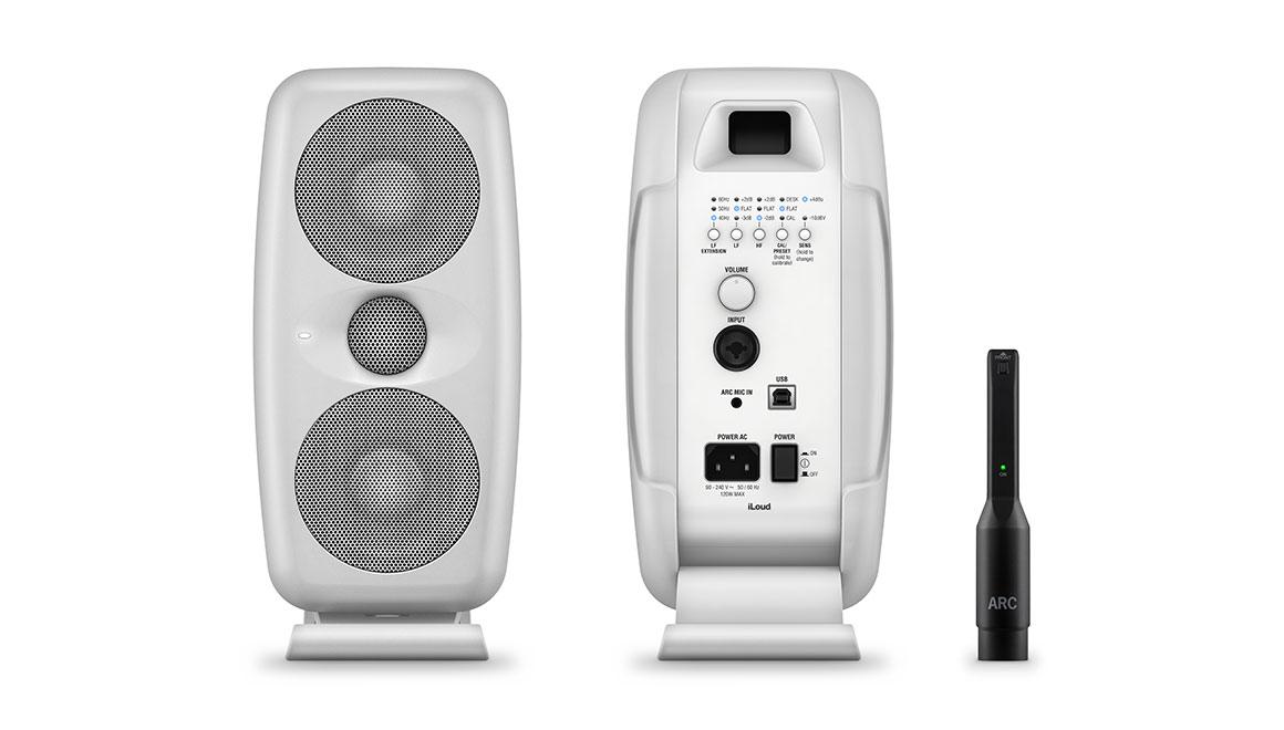 Ik Multimedia iLoud MTM white monitor studio mogar audiofader