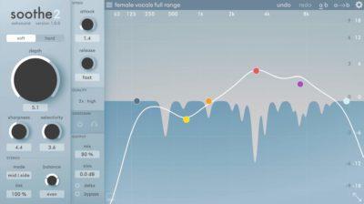 Oeksound Soothe2 plug-in audio pro daw software virtual eq notch auto audiofader