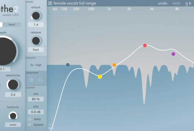 Oeksound Soothe2 plug-in audio pro daw software virtual eq notch auto audiofader