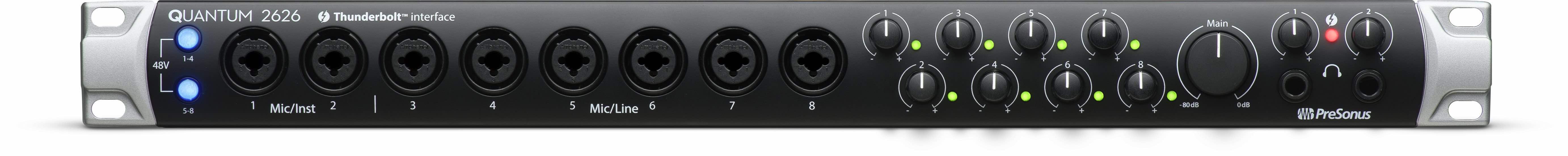 PreSonus Quantum 2626 interfaccia audio pro rec studio home project hardware midi music audiofader