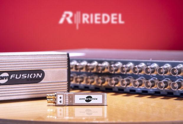 Riedel Embrionix news attualità audiofader