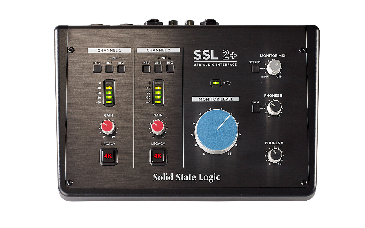 SSL 2+ interfaccia audio pro home project studio midiware audiofader