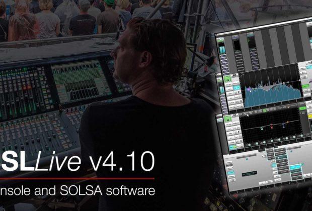 SSL Live v4.10 update aggiornamento software plug-in audio pro virtual mix processing audiofader