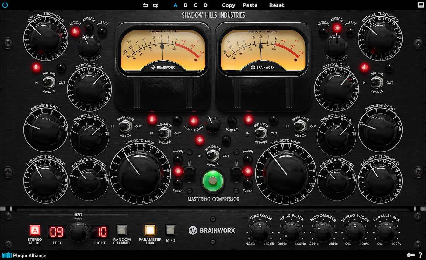 brainworx Shadow Hills Mastering comp virtual plug-in plugin alliance virtual software daw itb mix audiofader