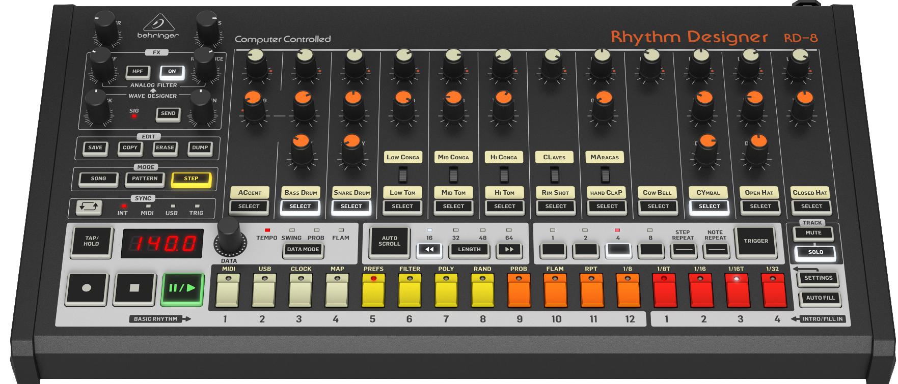 Behringer Rd8 roland tr 808 recensione luca pilla audiofader