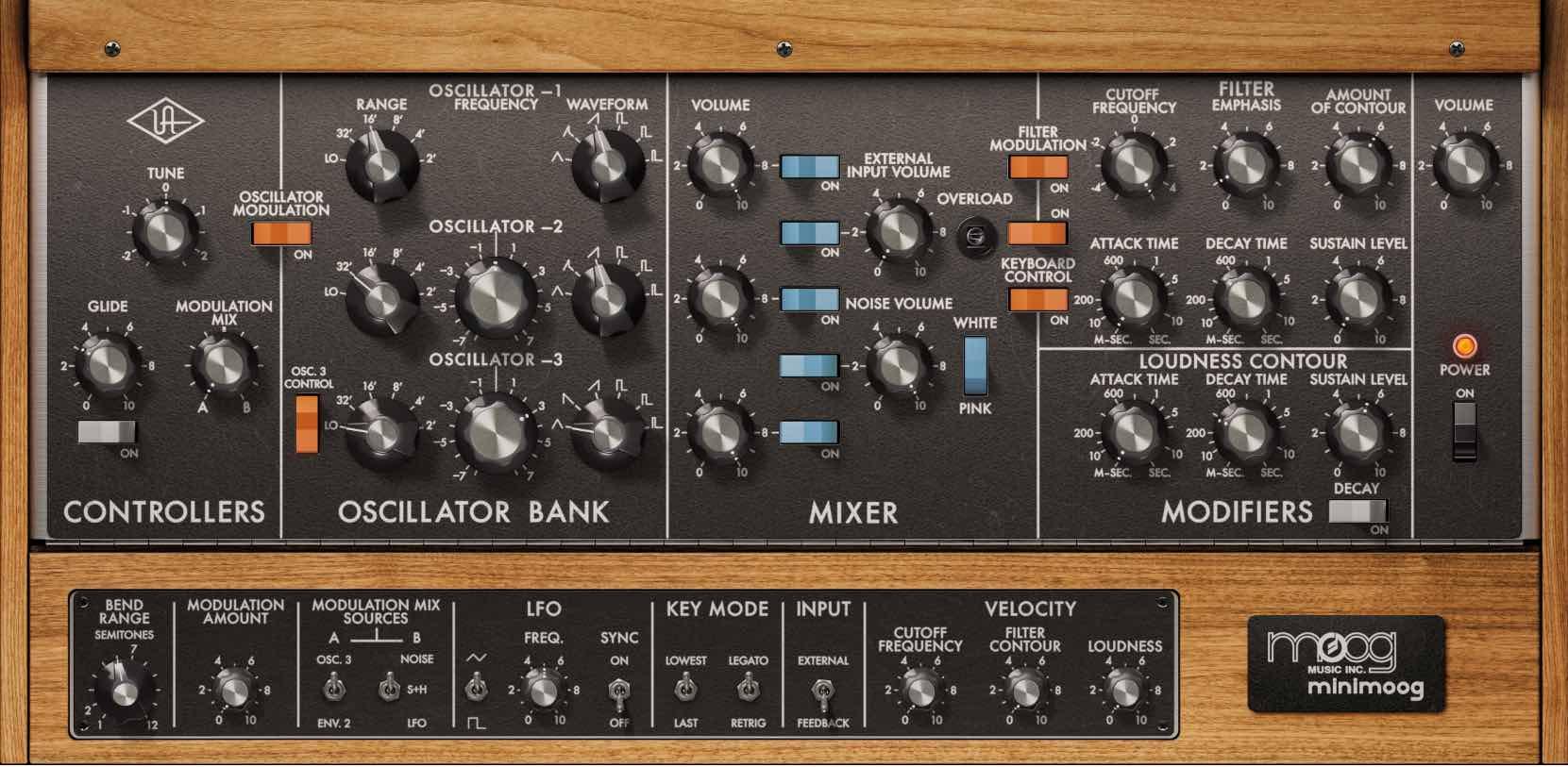 universal audio luna minimoog virtual instrument daw software producer audiofader