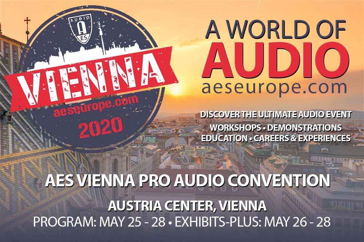 AES Convention 2020 Vienna evento audio pro audiofader