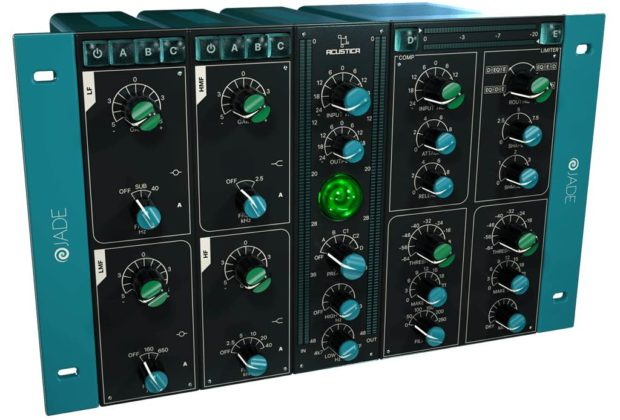 Acustica Audio Jade virtual software mix processing eq comp limiter preamp software audiofader