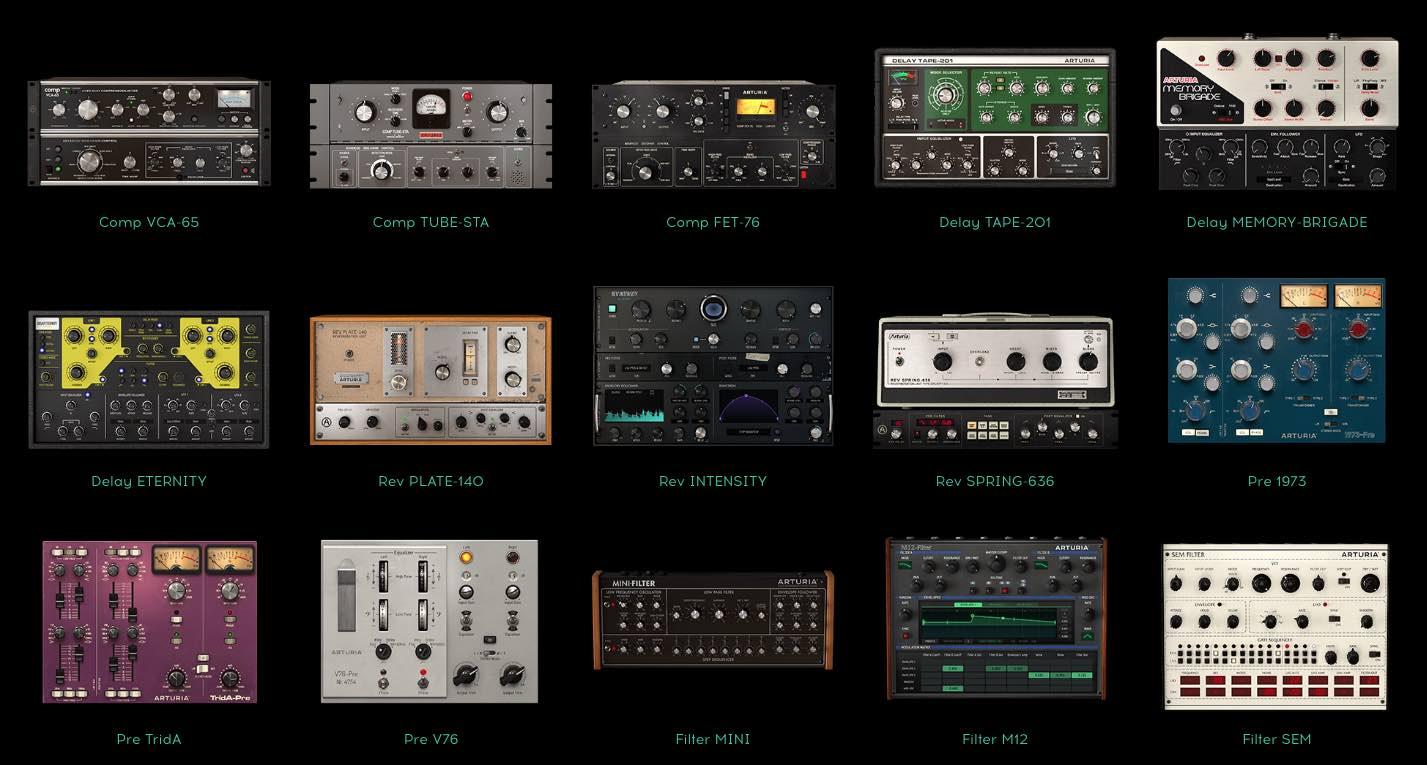 Arturia FX Collection plug-in audio software daw virtual arturia audiofader