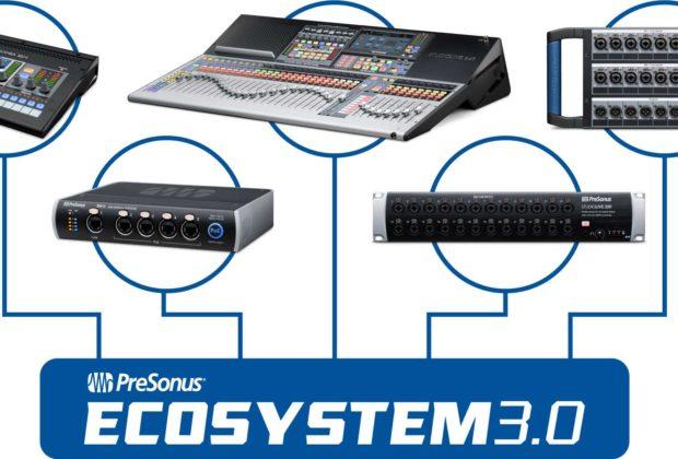 PreSonus Ecosystem 3.0 studiolive mixer live digital studio midi music update audiofader