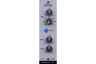 Analog Obsession SteQ plug-in audio daw software virtual audiofader