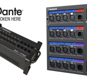Digico A164D Wall LCD A168D Stage live hardware digital dante audio ip audiofader