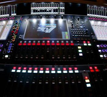 DiGiCo Artless Poole, Jr. sd7 mixer digital console live tv audiofader