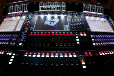 DiGiCo Artless Poole, Jr. sd7 mixer digital console live tv audiofader