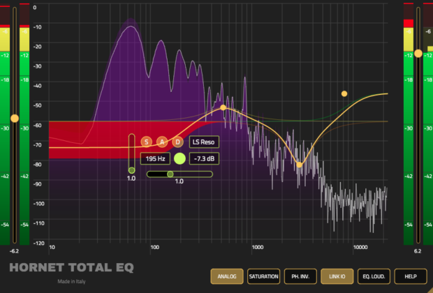 Hornet Total Eq virtual eq plug-in software daw processing audiofader