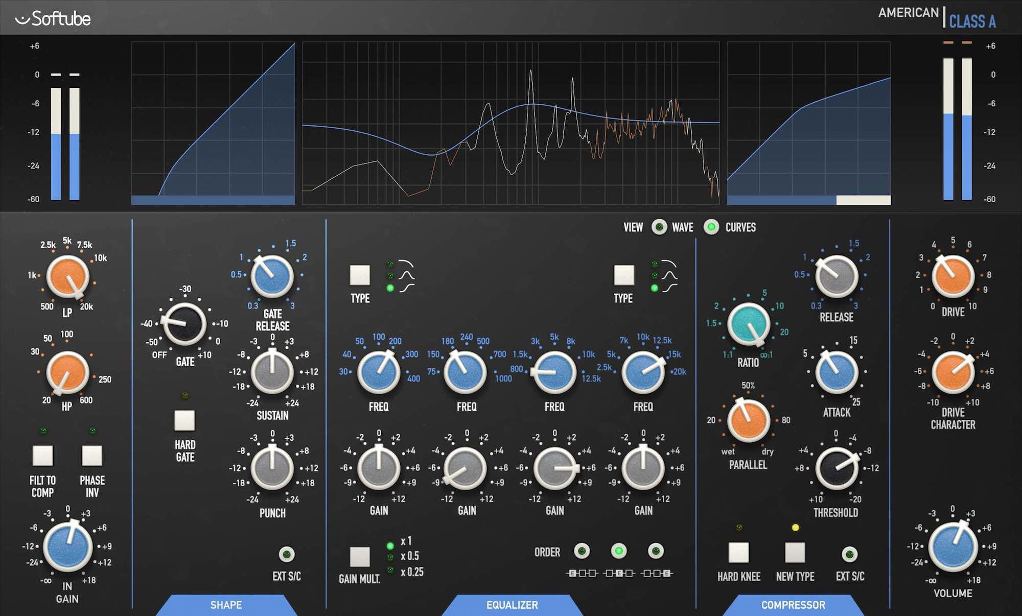 Softube American Class A Volume 4 plug-in bundle collection software daw virtual mix amp